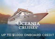 Oceania: Up to $1,000 Onboard Credit