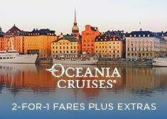 Oceania: 2-for-1 Fares PLUS Extras