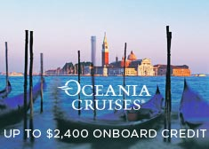 Oceania: Up to $2,400 Onboard Credit