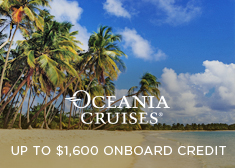 Oceania: Up to $1,600 Onboard Credit