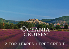 Oceania: 2-for-1 Fares + Free Credit