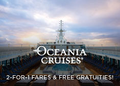 Oceania: 2-for-1 Fares & Up to $800 Credit!