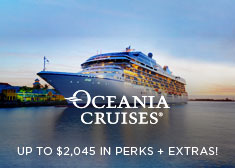 Oceania: Up to $2,045 in Perks + Extras!