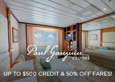Paul Gauguin: Up to $500 Credit & 50% Off Fares