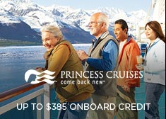 Princess: Up to $385 Free Onboard Credit