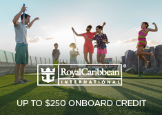 Royal Caribbean: Up to $250 Onboard Credit