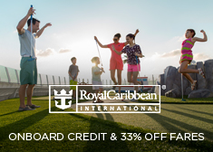 Royal Caribbean: Onboard Credit & 33% Off Fares