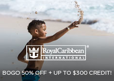 Royal Caribbean: BOGO 50% Off + Up to $300 Credit!
