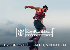 Royal Caribbean: Tips on Us, Free Credit, & BOGO 50%