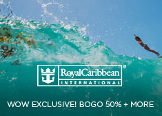 Royal Caribbean: WOW Exclusive! BOGO 50% + More
