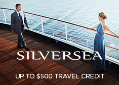 Silversea: Up to $500 Travel Credit