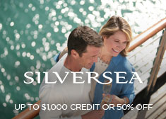 Silversea: Up to $1,000 Credit OR 50% Off