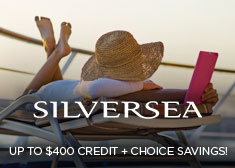 Silversea: Up to $400 Credit + Choice Savings!