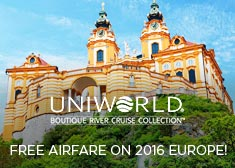 Uniworld: Free Airfare on 2016 Europe!