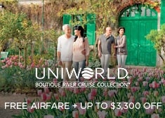Uniworld: Free Airfare + Up to $3,300 Off!