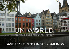 Uniworld: Save up to 30% on 2018 Sailings