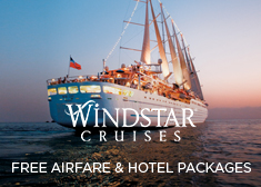 Windstar: Free Airfare & Hotel Packages