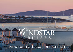 Windstar: NEW! Up to $1,100 Free Credit