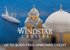 Windstar: Up to $1,100 Free Onboard Credit