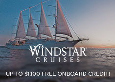 Windstar: Up to $1,100 Free Onboard Credit!