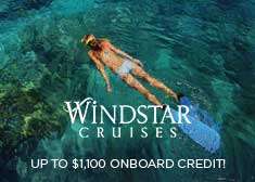Windstar: Up to $1,1000 Onboard Credit