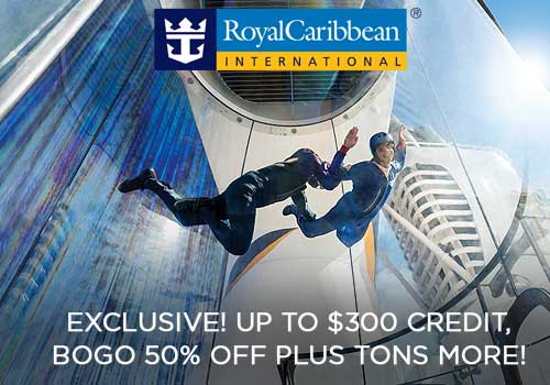 Royal Caribbean: Up to $300 Free Onboard Credit, Buy One Get One 50% Off Cruise Fares, up to $100 Instant Savings PLUS More!