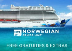 Norwegian: Free Gratuities & Extras